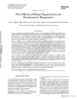 The Effects of Sleep Deprivation on Oculomotor Responses