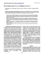 Hematologic biomarkers in childhood cataracts