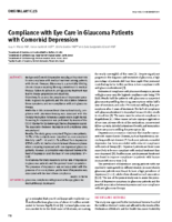 s Glaucoma in Care Eye with Compliance  Depression Comorbid w
