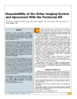 Repeatability of the Sirius Imaging System and Agreement With the Pentacam HR