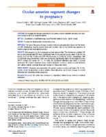2014 JCRS Ocular anterior segment changes in pregnancy