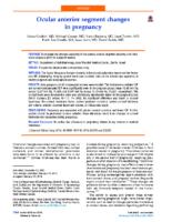 2014 JCRS Ocular anterior segment changes in pregnancy