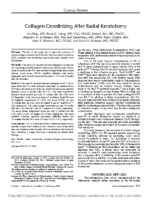Collagen Crosslinking After Radial Keratotomy