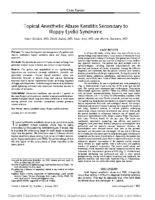 Topical Anesthetic Abuse Keratitis Secondary to Floppy Eyelid Syndrome