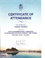 certificate dead sea symposium 07.2011